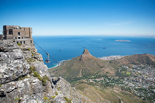 cable car cape town - table mountain south africa stock pictures, royalty-free photos & images