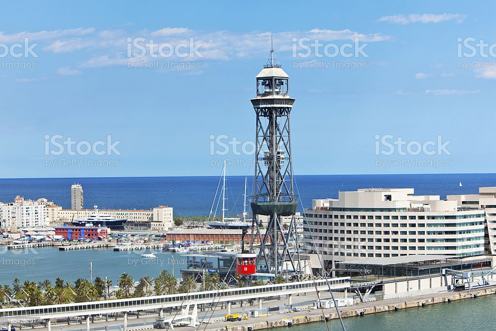 Cable car in Barcelona royalty-free stock photo