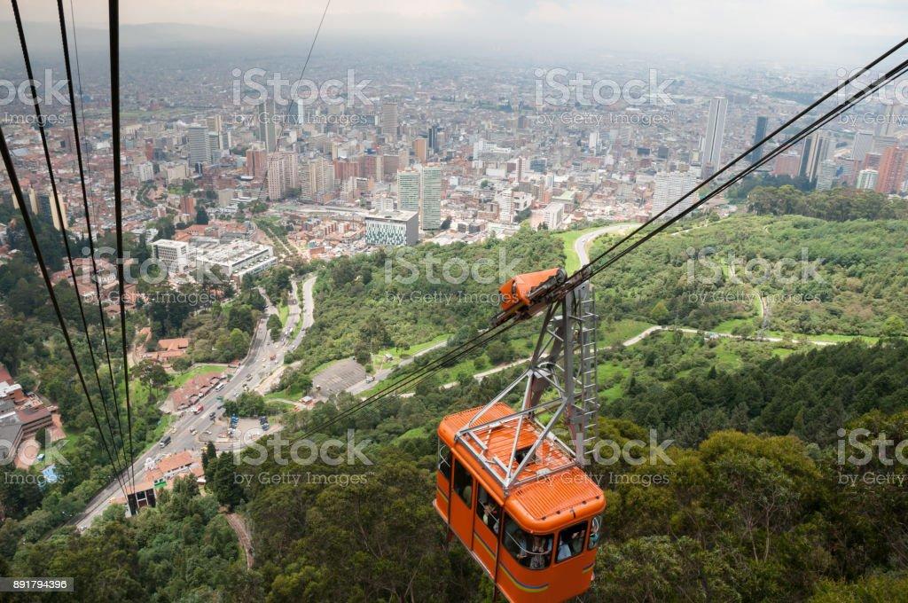 Coche de cable en Bogotá. Colombia - foto de stock