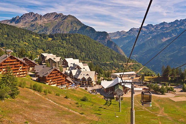 Cable Car in European Alps​​​ foto