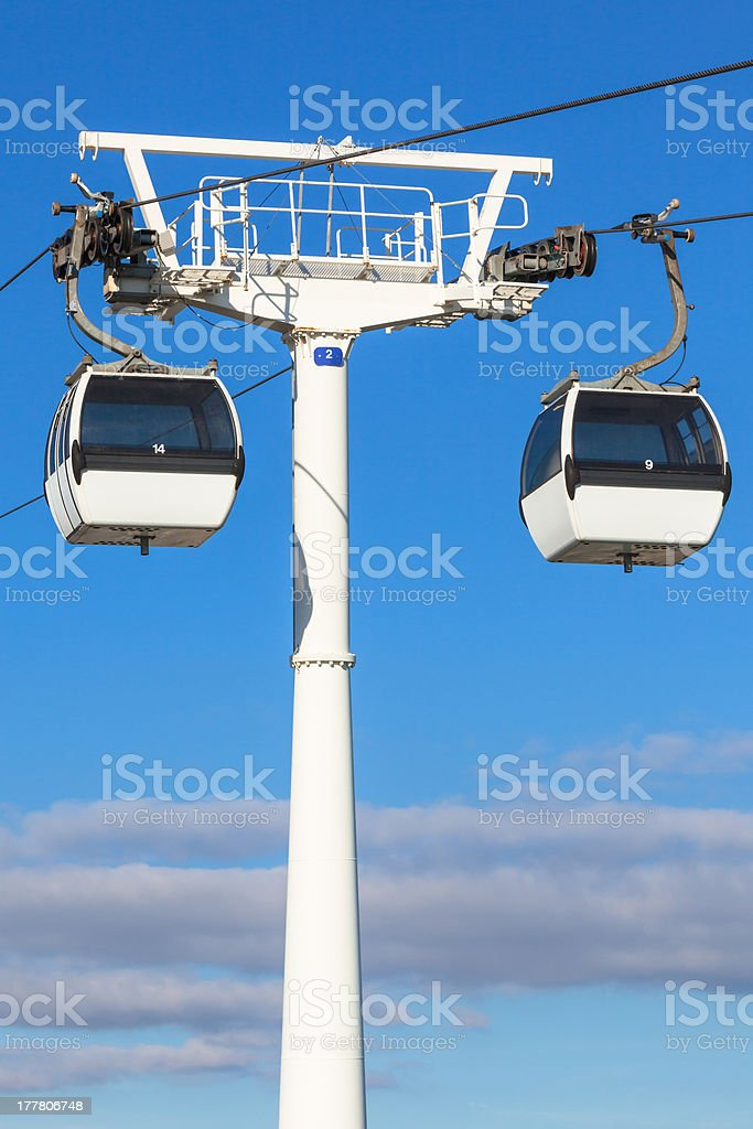 Cable car in Lisbon, Portugal royalty-free stock photo
