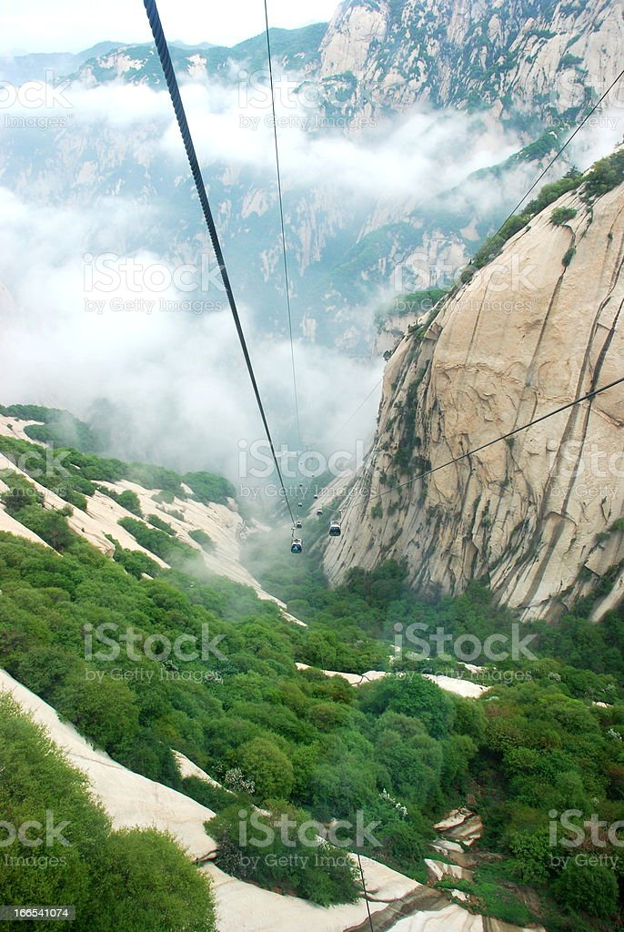 Cable Car in Mountain Huangshan royalty-free stock photo