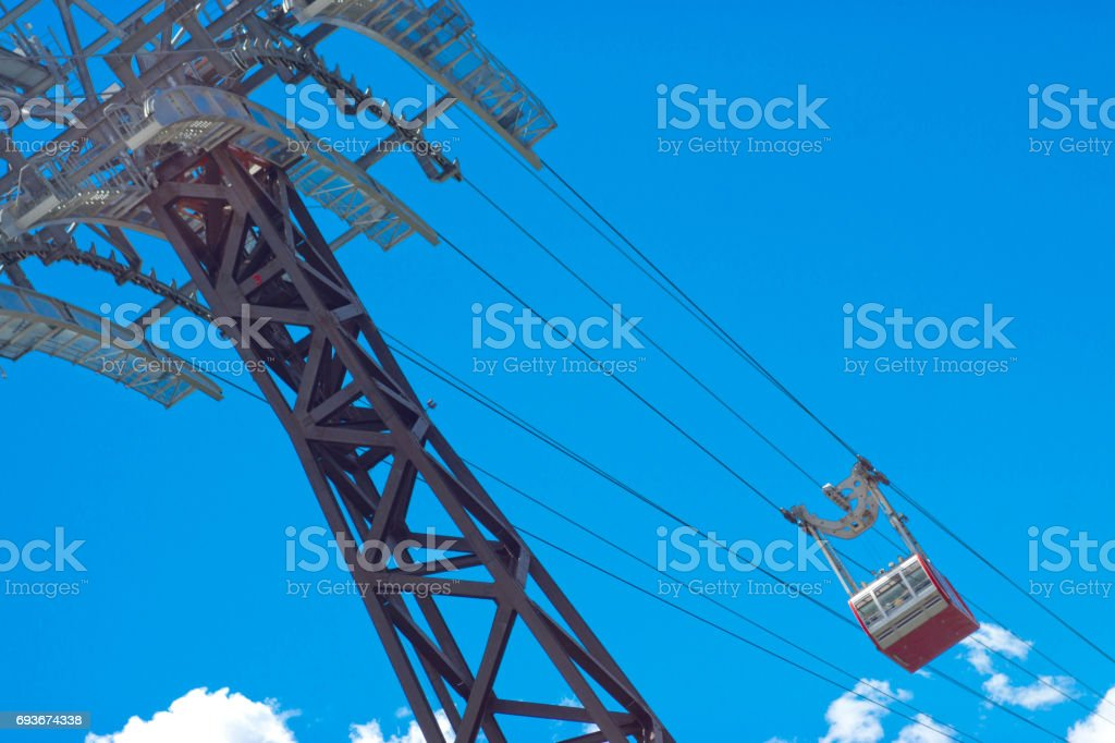 Cable car in New York stock photo