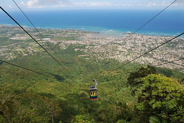 Cable Car in Puerto Plata, Dominican Republic stock photo