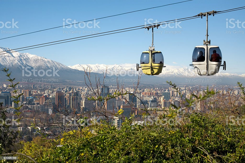 Cable car in Santiago de Chile stock photo