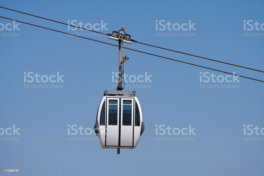 Cable car in the sky for travel royalty-free stock photo