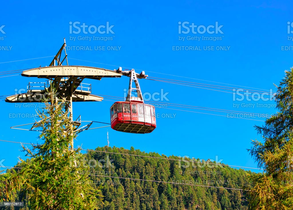 Cable car in Zermatt highland Switzerland CH zbiór zdjęć royalty-free