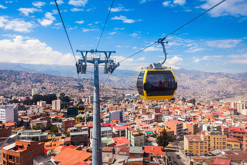 Cable Car Lapaz Stock Photo - Download Image Now