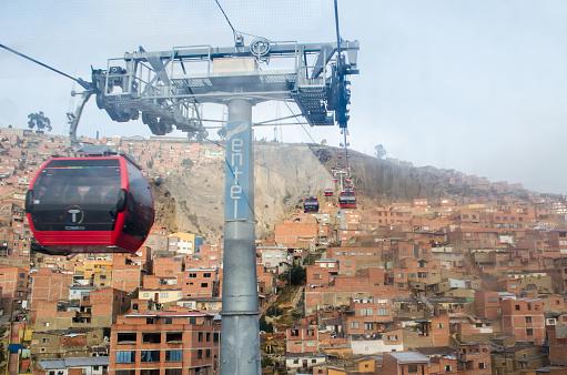 istock Cable car of La Paz El Alto in Bolivia 1238857111