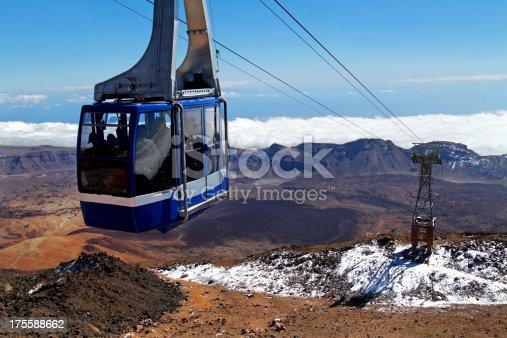 istock Cable car on Mount Teide, Tenerife 175588662