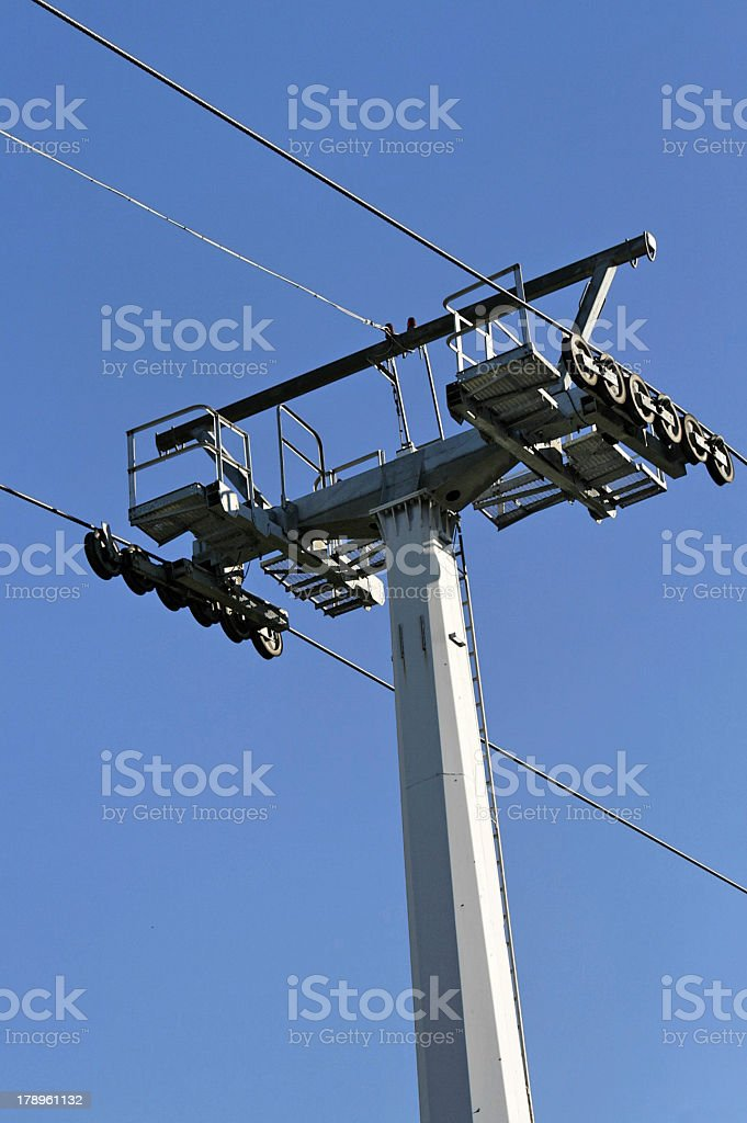 Cable car post royalty-free stock photo