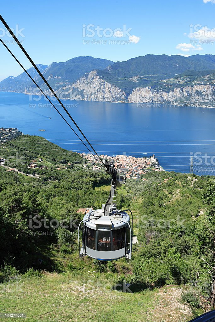 cable car ride royalty-free stock photo