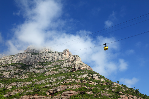 Cable car ride to the top of Montserrat