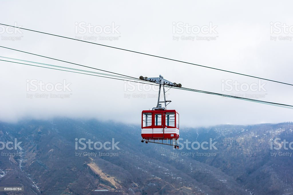 Cable car, Rope way. stock photo
