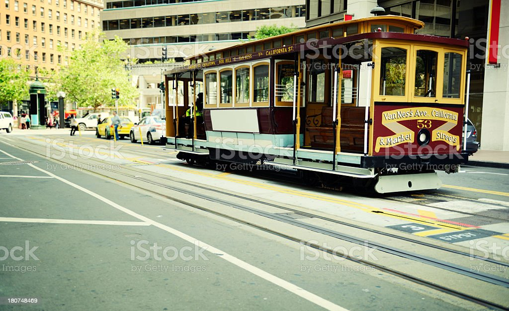 Cable Car, San Francisco. stock photo