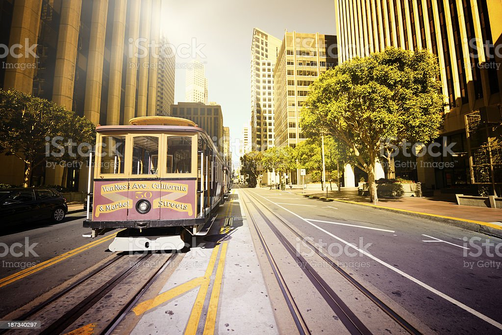 Cable Car,  San Francisco royalty-free stock photo