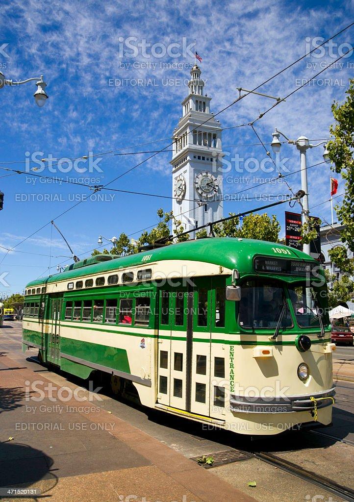 San Francisco, California, USA - August 9, 2012: An electric trolley...