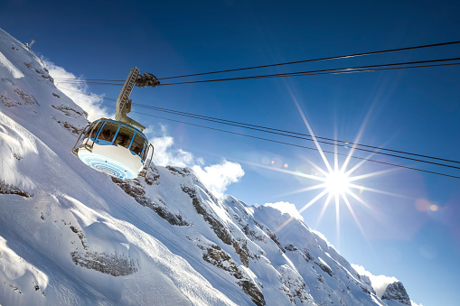 cable car, titlis mountain, switzerland