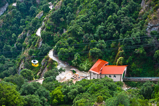 Cable Car to Monserrat Monastery, Spain