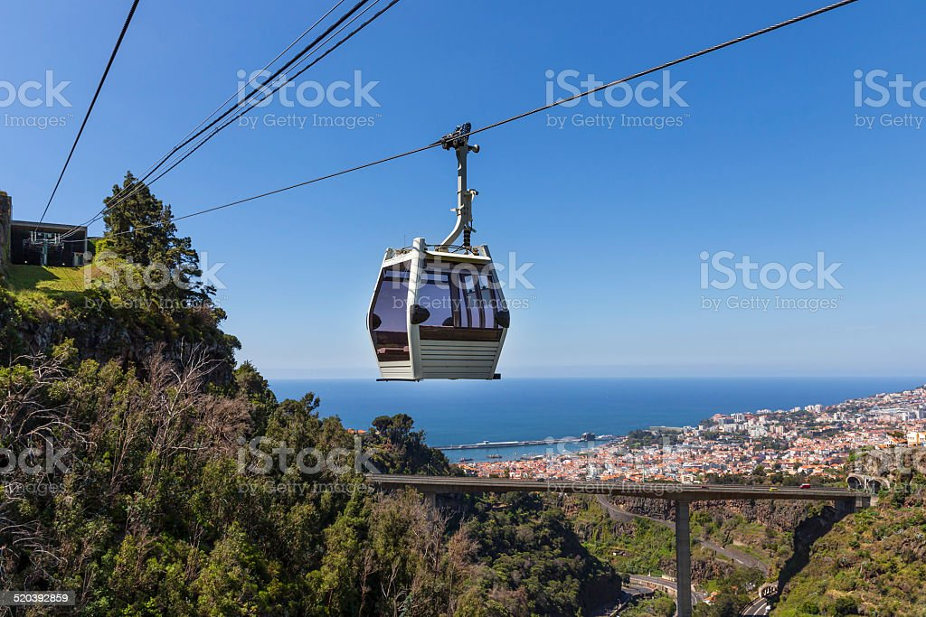 Cable car to Monte at Funchal, Madeira Island, Portugal stock photo