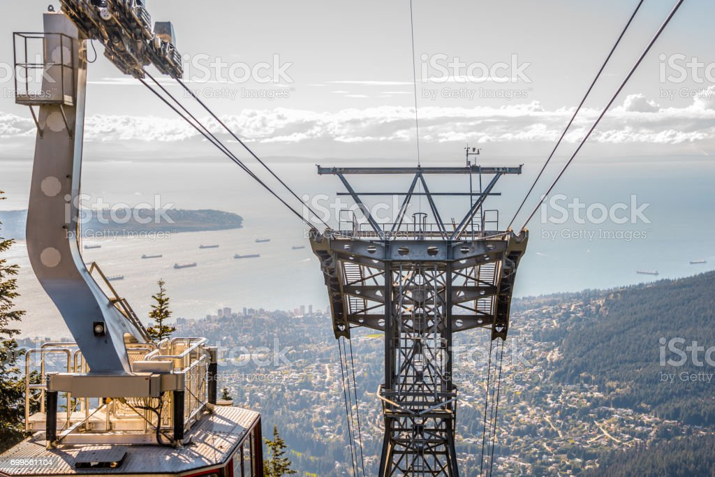 Cable Car Tower Overlook West Vancouver stock photo