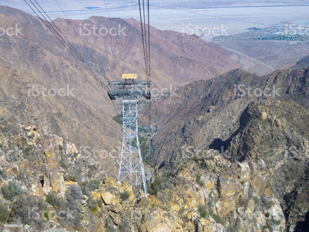 Cable Car Towers, Palm Springs, California - Stock image stock photo