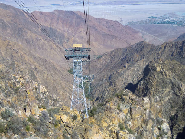 Cable Car Towers, Palm Springs, California - Stock image – Foto