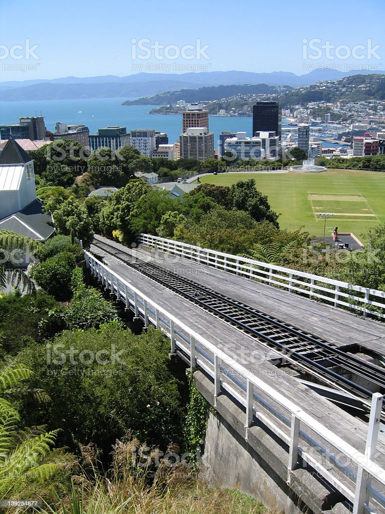 Cable car track, Wellington, New Zealand royalty-free stock photo