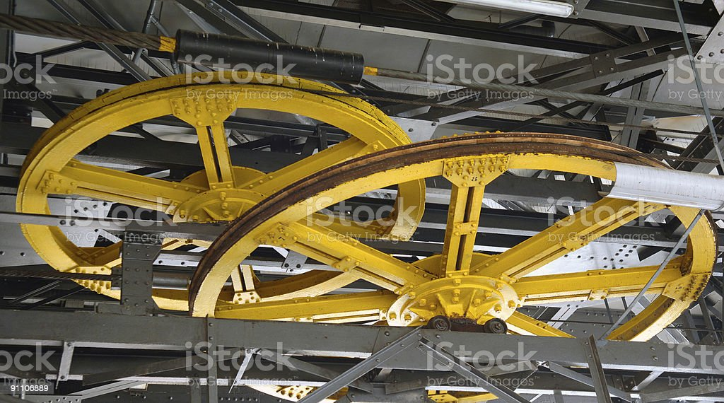 Cable Car wheel royalty-free stock photo