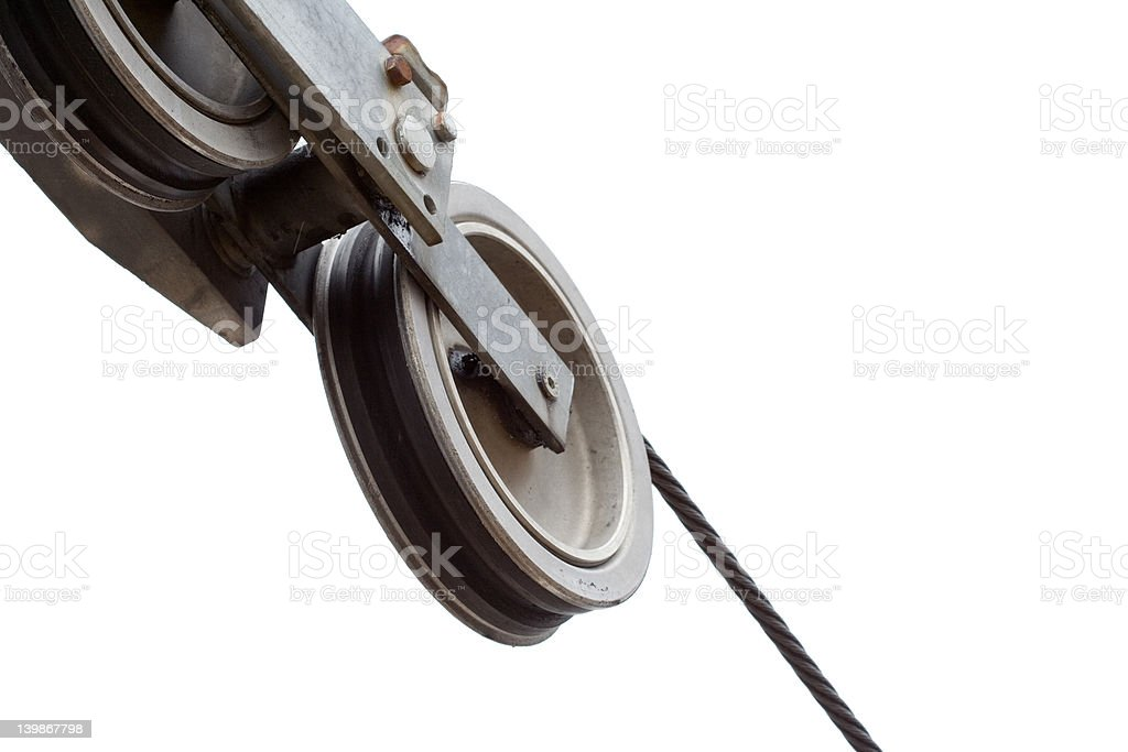 Cable car wire royalty-free stock photo