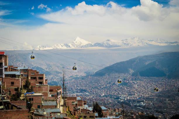 在拉巴斯的拉索汽車 - 玻利維亞 個照片及圖片檔