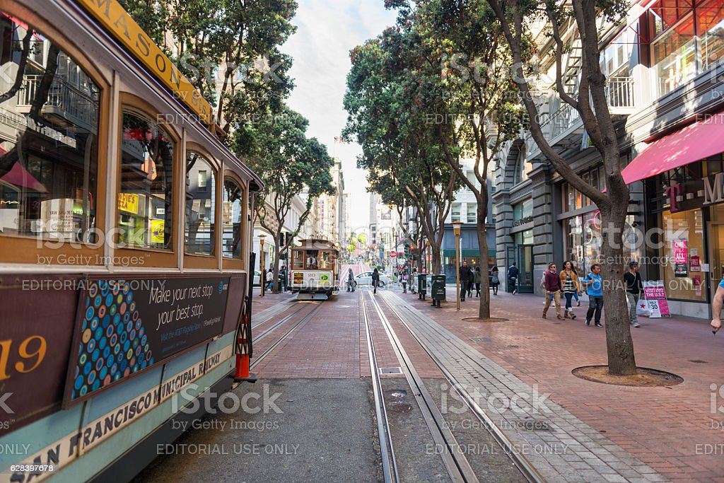 Cable cars of San Francisco stock photo
