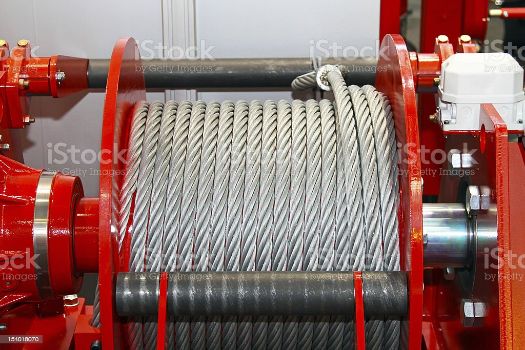 Cable coil stock photo