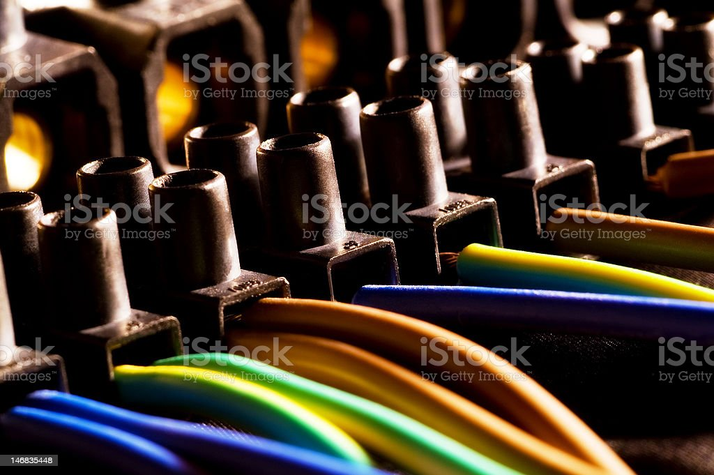 Cable connection royalty-free stock photo
