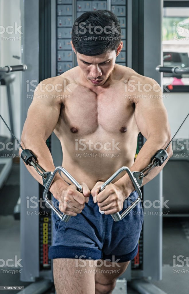 Cable Crossover WorkOut stock photo