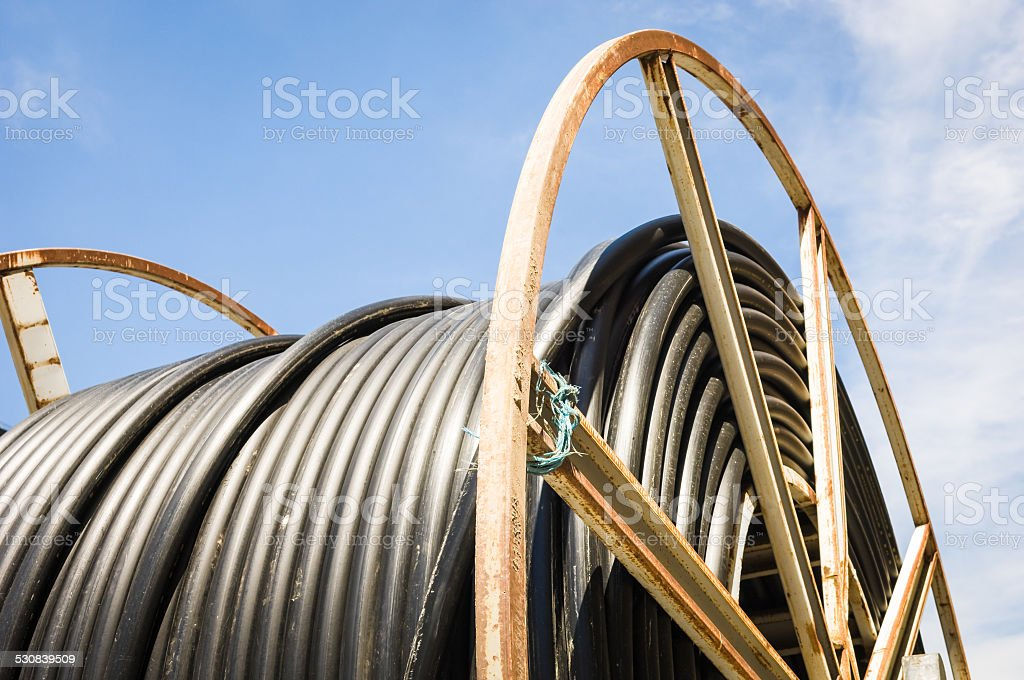 cable drum stock photo