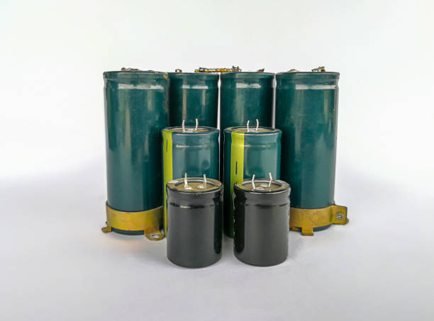 cable, electrical component, equipment, power supply, radio - capacitor stock photos and pictures