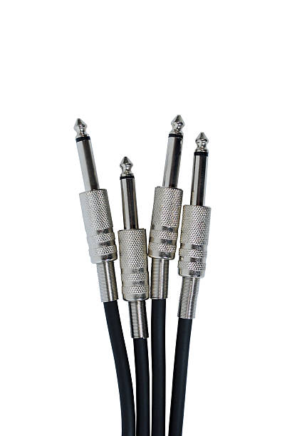 cable guitar stock photo