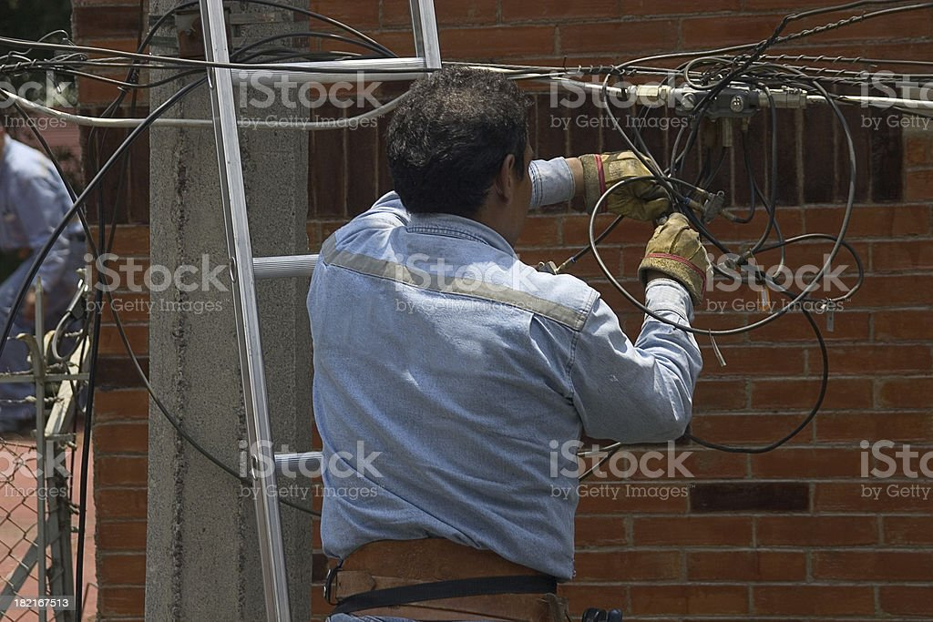 cable guy stock photo