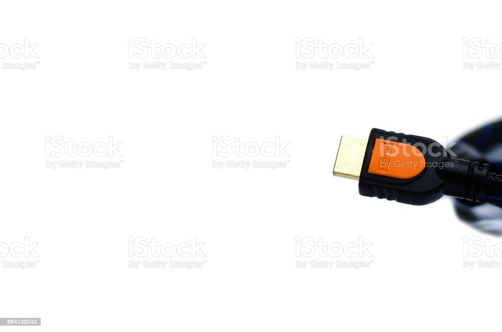 HDMI cable isolated on white background foto stock royalty-free