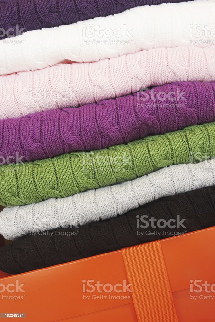 Cable Knit Sweater Clothing Fashion royalty-free stock photo