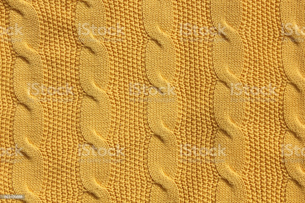 Cable knitted abstract background - mustard - foto de stock