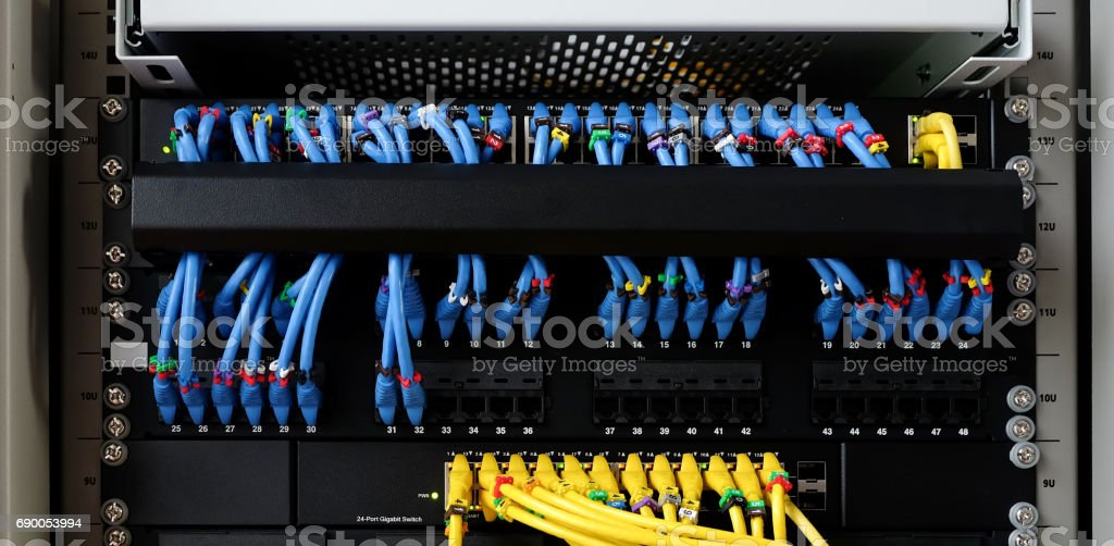 cable lan for internet stock photo