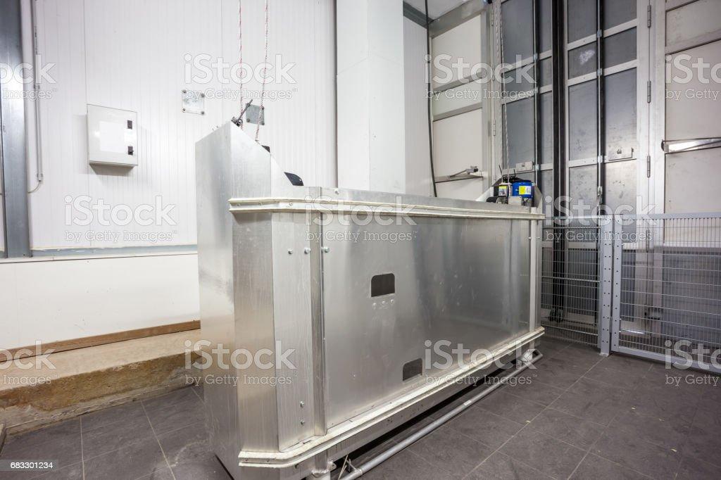 Cable lift cage zbiór zdjęć royalty-free
