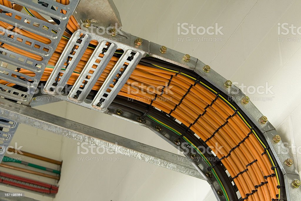 Cable management racks royalty-free stock photo