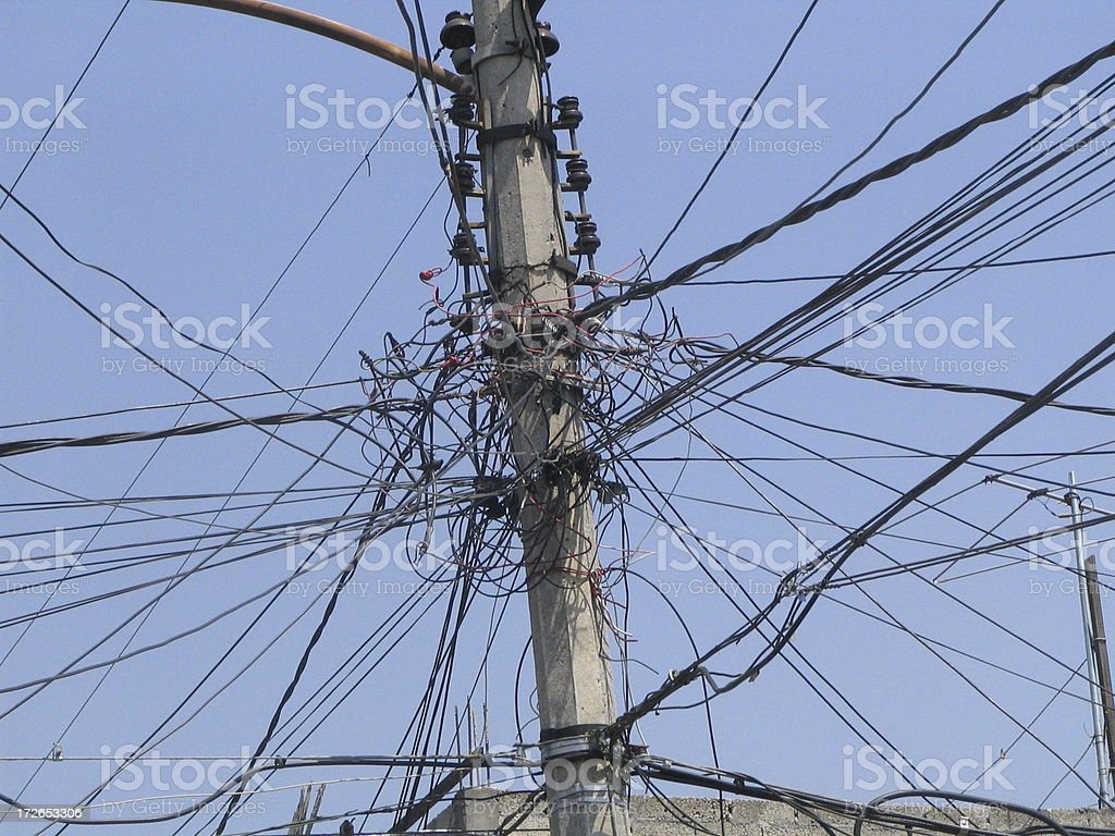Cable mess royalty-free stock photo