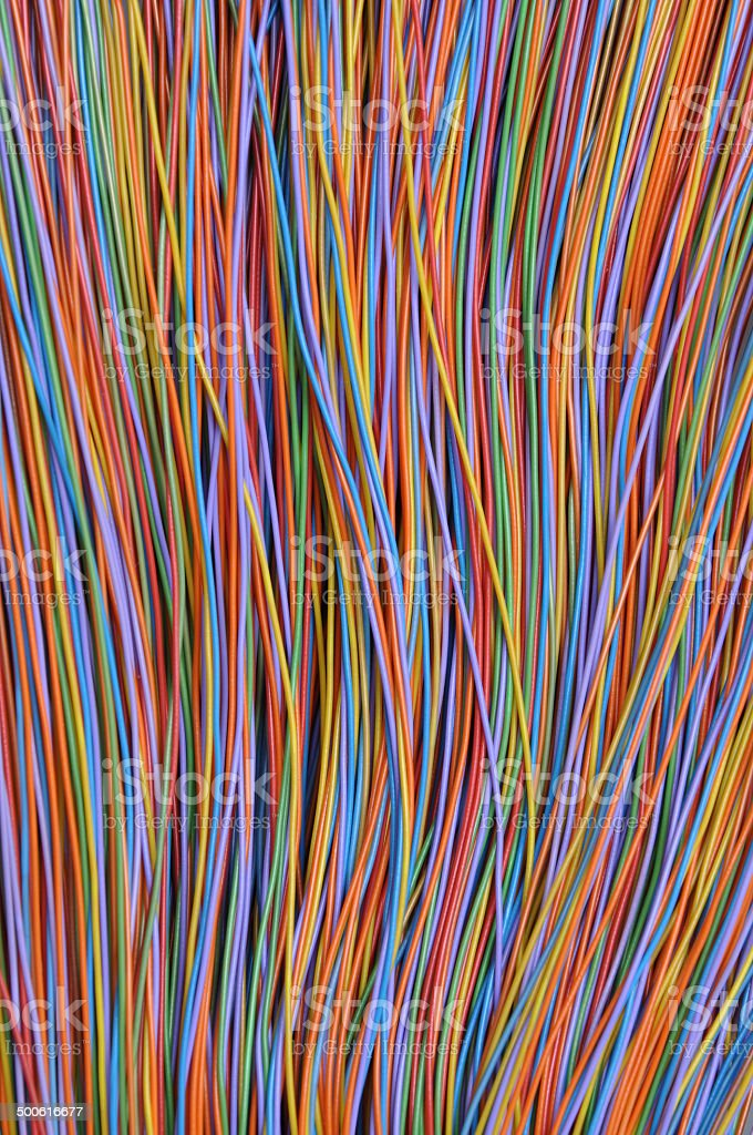 Cable of  internet network, global network connection stock photo