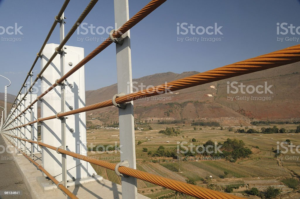 cable on bridge royalty-free stock photo