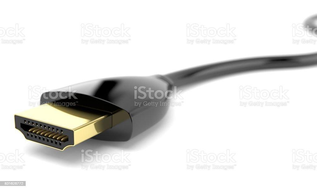 HDMI cable stock photo