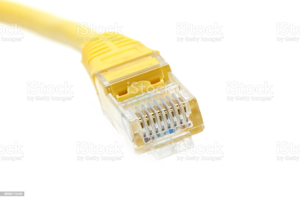 LAN cable stock photo